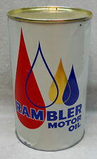 Vintage Rare Canadian AMC American Motors Rambler Tin Quart Oil Can.