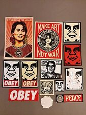 shepard fairey street art sticker pack lot obey giant banksy mr.brainwash style