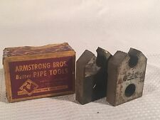 Vintage Pair Armstrong Bros. Pipe Die Threading Head 3/8 R-NPT 30 2A773