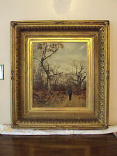 """Tree Felling""Arthur George Bell (British1849-1916) 19th C English Oil Painting"
