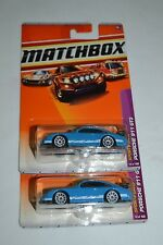 2010 MATCHBOX SPORTS CARS PORSCHE 911 GT3 BLUE 14/100 TWO CAR SET