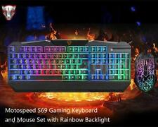 Motospeed S69 Gaming Keyboard and Mouse Set Combo with Rainbow Backlight for PC