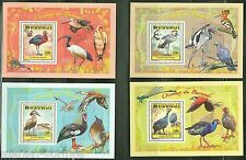 BURUNDI 2014  STORK CRANE  ETC BIRDS  OF BURUNDI SET SOUVENIR SHEETS   MINT NH