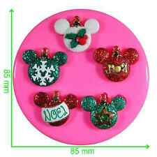 Disney les ornements de Noël Mickey & Minnie Moule Silicone par fairie bénédictions