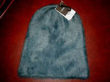 Ladies Fab Topshop One Size Ultra Furry RAF Blue Beanie Hat BNWT £18 In Store.