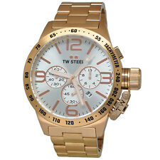 TW STEEL Canteen 50mm Rose Gold Chronograph Gents Watch CB164 - RRP £469 - NEW