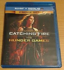 The Hunger Games & Catching Fire NEW Bluray discs/case/cover only-no digital