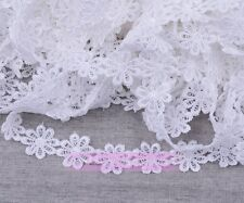 1Yard Vintage Flower Lace Edge Trim Embroidered Fabric Sewing Applique Trim Lots