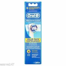Original UK Braun Oral B Precision Clean Electric Toothbrush Brush Heads 4 Pack