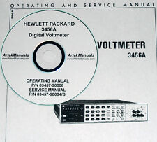 HP 3456A OPERATOR & SERVICE  MANUALS 2 VOLUMES