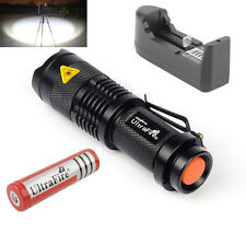 Ultrafire LED Flashlight 1200LM SK98 Torch CREE T6 Light +18650 battery+ charger