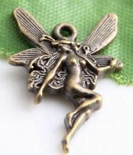 Free Ship 100Pcs Bronze Plated Fairy Charms 22x15mm