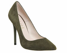 Womens Office Onto Point Court Khaki Kid Suede Court Shoes Size UK 5 *Ex Display