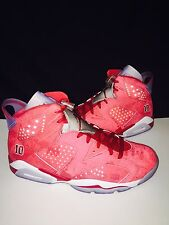NIKE AIR JORDAN RETRO 6 SLAM DUNK VARSITY RED/VARSITY RED-WHITE 717302 600 SZ 10