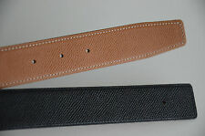 REVERSIBLE 32MM CUSTOM HANDMADE LEATHER BELT fits HERMÈS BUCKLES Herme SZ 85