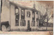88 - cpa - SAINT DIE - Rue d'Alsace -Première maison incendiée par les Allemands