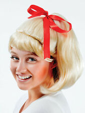 Adult Ladies Sandy 50s Olivia Newton John Wig Grease High School Fancy Dress New
