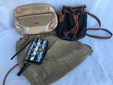 Tory Burch Versace Dooney Bourke Giorgio Armani Lot Of 4 Wallet Purses Leather