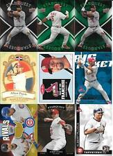 ALBERT PUJOLS  (9) CARD INSERT LOT VARIOUS YEARS &  BRANDS  SEE LIST AND SCAN