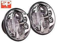 Land Rover Defender 90 110 Pair Lynx Eye LED Headlights RHD DA6282