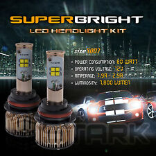 LED 80W 7800LM LED Kit CREE XT-E 6000K Headlight Dual Hi Lo Bulbs - 9007 HB5