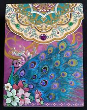 Punch Studio Pocket Size Decorated Note Pad* Royal Peacock on Purple  66332