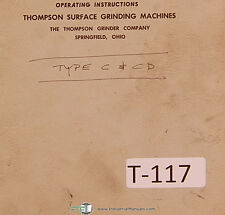 Thompson Type C and CD, Truform Surface grinder Operations and Parts Manual