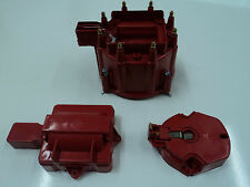 Red Male HEI Distributor Cap & Rotor Performance Replacement SBC BBC 305 350 454