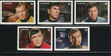2016 Canada SC# Star Trek 50th Anniversary - Five Booklet Stamps M-NH