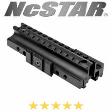 Ncstar Tri-Rail Mount Riser Clamp on Flat-Top Picatinny Rail Aluminum Black
