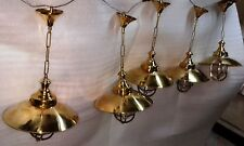 New Marine Brass Hanging Ship Lights Set of 5 pieces In nice Condition