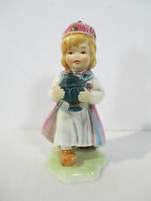 Goebel Nativity Lore King Wiseman Magi #11360 Vintage 1984 TMK6 Pinks Blues Cute