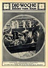 Der Deutschen Kaiser in Wien und Venedig Fahrt auf dem Canal Grande Gondeln 1912