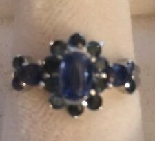 11.26CT. NATURAL GEM TOP RICH BLUE KYANITE,  925 SILVER RING S 6