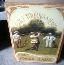 Leinwand Bild Golf Tournament Keilrahmen 70x50 cm Vintage Wand Deko