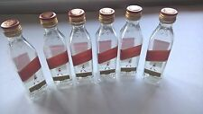 6 EMPTY Johnnie Walker Red Label Scotch Whisky 50ml Mini Plastic Liquor Bottles