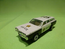MADE IN CHINA 1015 AMERICAN  POLICE CAR - POLIZIA POLITIE - VERY GOOD CONDITION