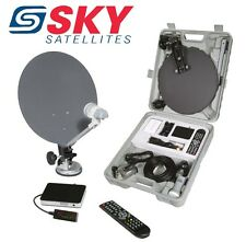 Caravan Satellite System, HD Camping Satellite Kit, Portable HD Freesat TV