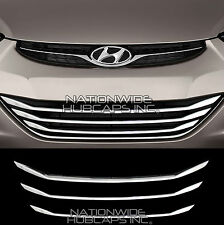 11-16 Hyundai Elantra GLS CHROME Lower Grille Overlay 3 Grill Bar Trim Covers