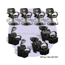 New Salon Spa Package Backwash Styling Chairs Equipment