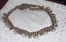 GREAT VINTAGE SIGNED REINAD HEAVY GOLD TONE METAL CHOKER NECKLACE