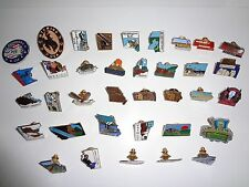 Lot  of 36 USA States & Parks Lapel / Vest Pins with pin clasp Free Shipping