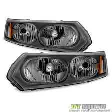 Black 2003-2007 Saturn ION Sedan Factory Style Headlights Headlamps Aftermarket