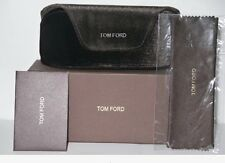 NEW Tom Ford Black Velvet Large Sunglasses / Eyeglass Case +Box + Cleaning Cloth