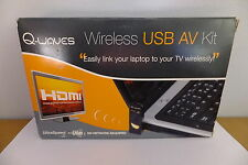 Q-waves Wireless USB AV KIT streaming di video da PC a TV o VIDEOPROIETTORE HDMI VGA