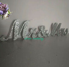 Mr and Mrs sign Wedding sign Silver Glitter Wedding Decor Wedding Mr & Mrs