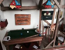 Dollhouse Miniature Furniture Picture Billiard Pool Table Wall Display Bar Sign