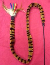 """Cat Kitten Toy Feather Tiggerling tickerling Tickle Stick Dangling Fur Toy 38"""""""