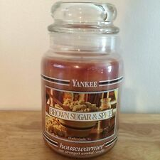 NEW Yankee Candle 22oz Large Jar Candle - Brown Sugar & Spice - YELLOW LABEL