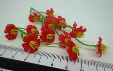 1:12th 15 Flowers Doll house Miniatures Garden ( x 3 Bunches)